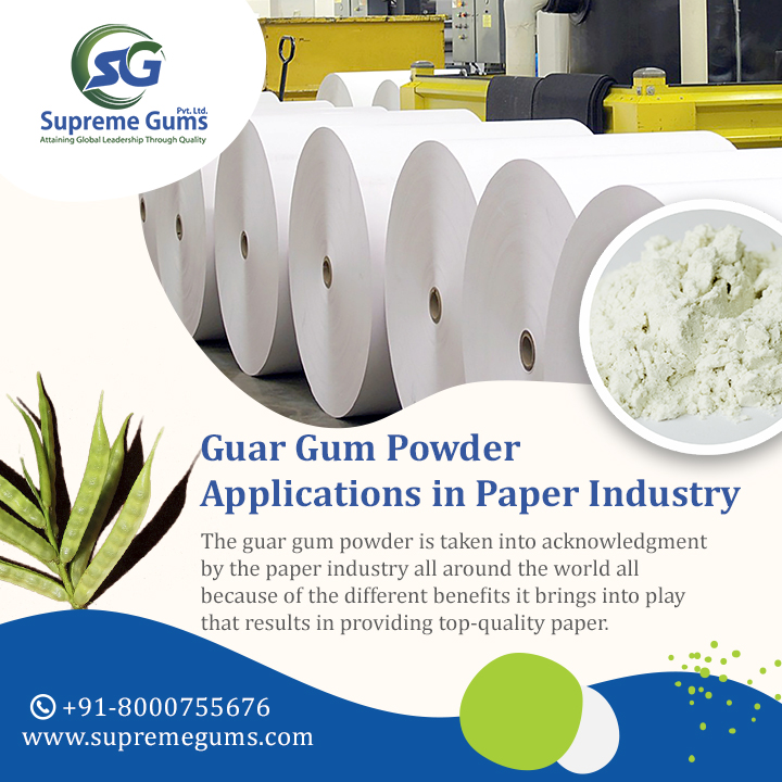 Guar Gum Powder Applications In Paper Industry
